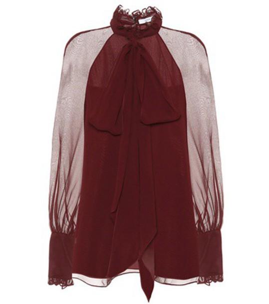 Erdem top silk red
