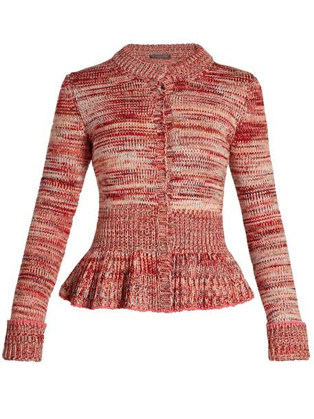 Alexander Mcqueen cardigan cardigan pink sweater