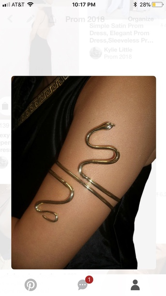 jewels gold arm bracelet snake
