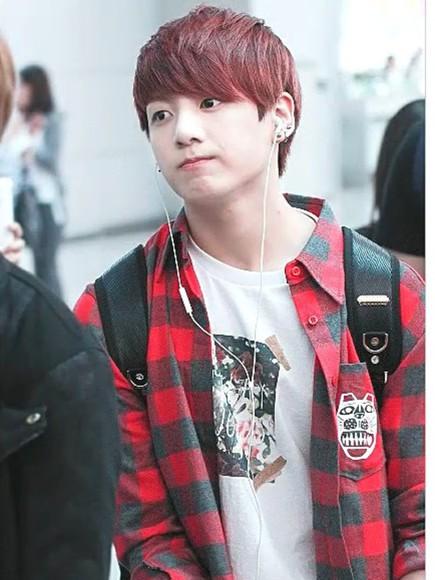 dog bangtan boys bts kpop kpop tshirt kpop star flannel shirt flannel top Tshirt flower shirt korean fashion kfashion outfit