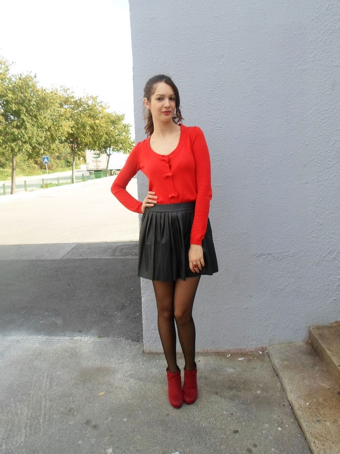 PU Leather Skirt with Accordion Pleats [FMCC0151]- US$ 17.99 - PersunMall.com