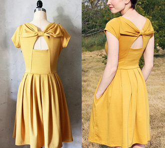 audrey hepburn vintage 50s style retro party dress yellow dress prom dress clothes 1950s