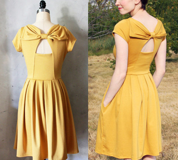 Yellow 1950s Prom Dresses L 35