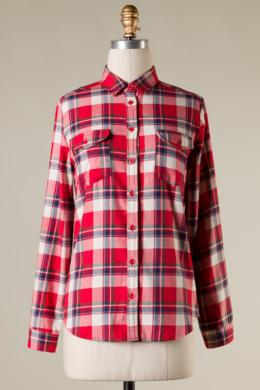 Mad about plaid top