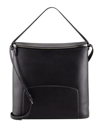 THE ROW Leather Crossbody Bag, Black