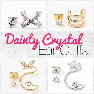 jewels jewel cult trendy trendy jewelry ear cuff earrings jewelry gold silver