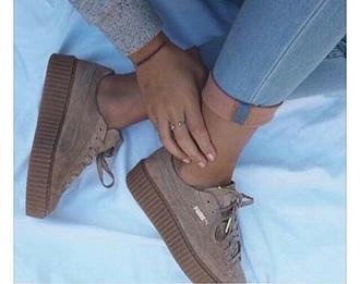 shoes tan brown