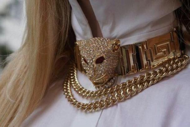 jewels, choker necklace, gold, statement necklace, leopard ...