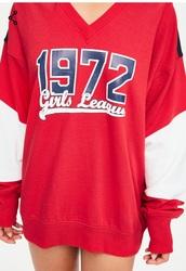 top,red,white,black,long sleeves,sweater,sweatshirt,blue,dope,dope wishlist,girl,black girls killin it,baseball tee