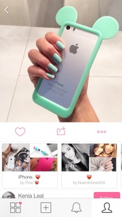 phone cover,girly,mickey mouse,iphone 5 case,turquoise