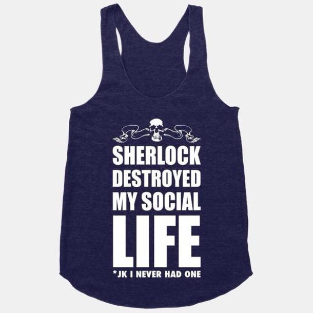 shirt sherlock holmes johnlock benedict cumberbatch blue sherlock