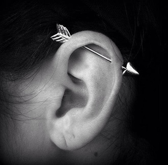 jewels ear piercings arrow