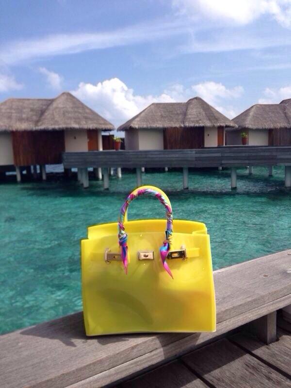 Bag: beach bag, rubber bag, silicone bag - Wheretoget