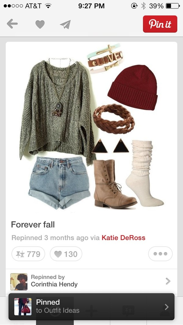 sweater shoes jewels shorts hat