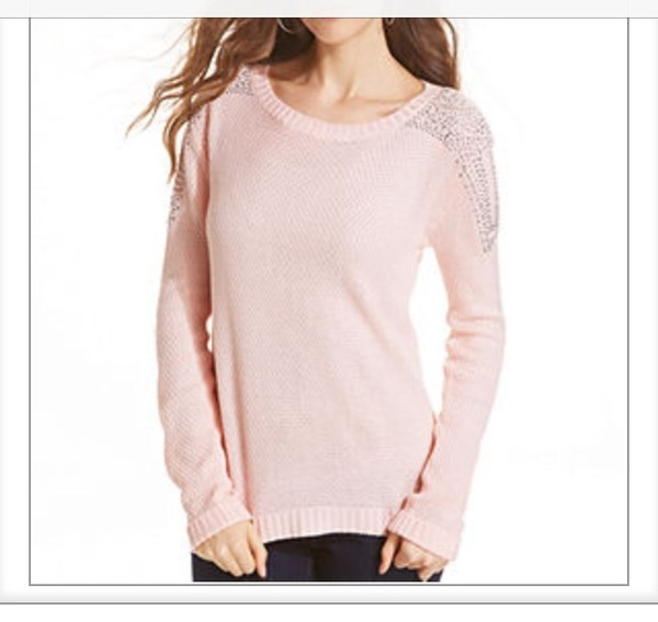 sweater macys pink sparkle