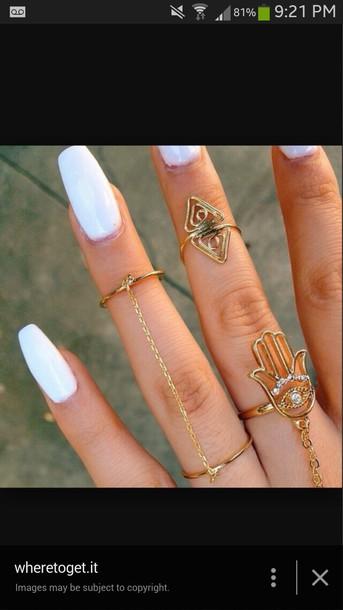 jewels white gold hand dainty cute boho