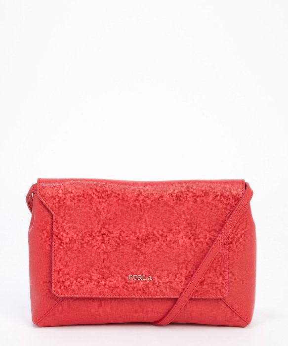 Furla red saffiano leather crossbody bag | BLUEFLY up to 70% off designer brands