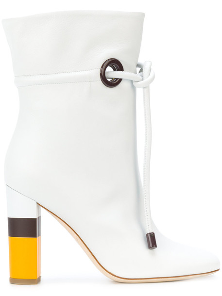 MALONE SOULIERS women leather white shoes