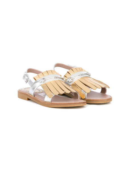 sandals leather nude shoes
