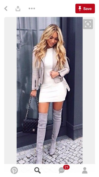 jacket clothes outfit outfit idea cute dress grey