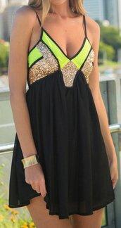 dress,black,black mini dress,skater dress,summer,summer dress,sexy dress,sleeveless,sleeveless dress,deep v,deep v dress,plunge neckline,plunge dress,plunge v neck,chiffon,chiffon dress,sequins,sequin dress,gold sequins,sold,preppy dress,casual dress,a line dress,black and gold sequins,gold sequins dress,musthave,pinterest,tumblr,tumblr dress,club dress,cute,cute dress,street,streetwear,streestyle,urban,holiday dress,fashion,fashion dress,mini dress,short dress,geometric,geometris dress,girly dress,girly,giely wishlist,preppy,pretty,cool,hot,summer season,fashion vibe,fashion toast,fashionista,fashionista preppy,a fashionist,musthave dress,holidays,beach dress,beach,fashion inspo,fashion coolture,lookbook,style scrapbook,style,stylish,american apparel,moraki,little black dress,romantic summer dress,fashion is a playground,women beachwear,neon,neon green,neon dress,neon green dress
