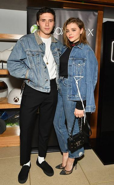 jacket denim jacket jeans denim pumps brooklyn beckham fall outfits mens t-shirt mens jacket chloe grace moretz