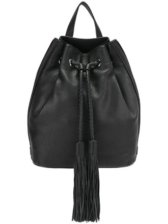tassel backpack black bag