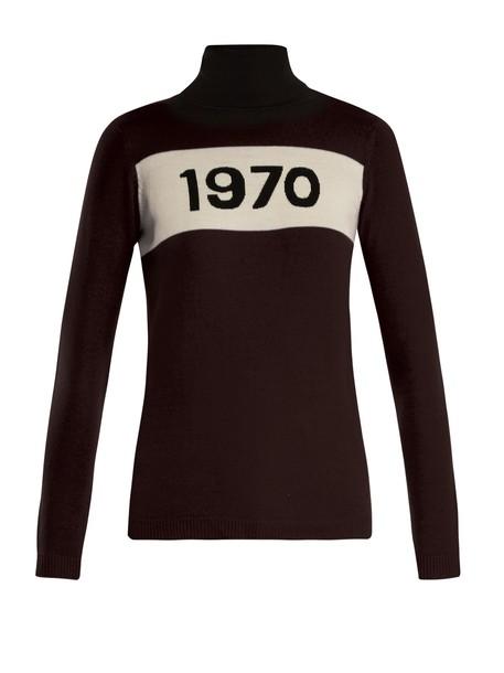 Bella Freud sweater wool sweater wool black