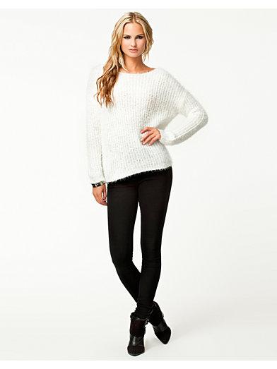 Lira Knit - Sisters Point - Cream - Tröjor - Kläder - Kvinna - Nelly.com