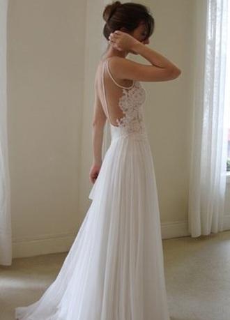 dress white dress prom dress formal dress evening gown