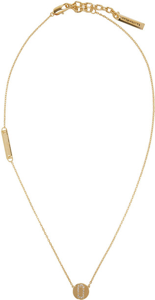 Marc Jacobs necklace gold jewels