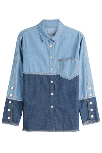 shirt denim shirt denim blue top
