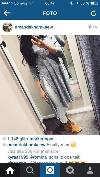 blouse grey dress grey sweater grey shirt dress shirt sweater jumper sweater dress