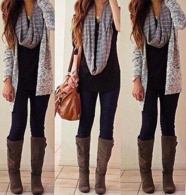scarf cardigan