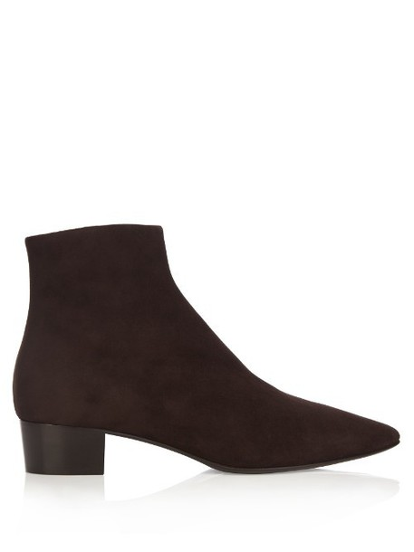 THE ROW Ambra suede boots in brown