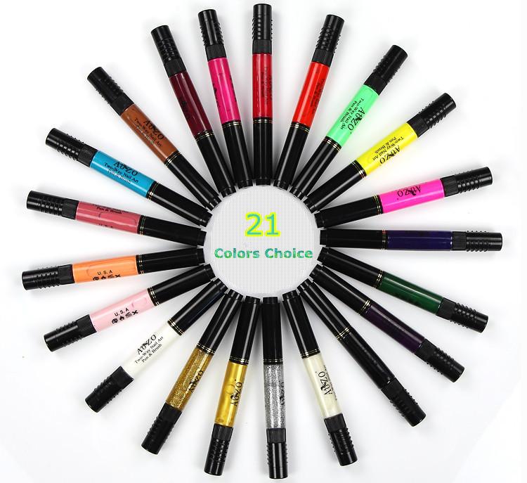 New Design Chinese Red Nail Polish 2 Ways Set Nail Art Painting Pen ...