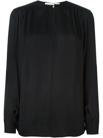 blouse loose black top