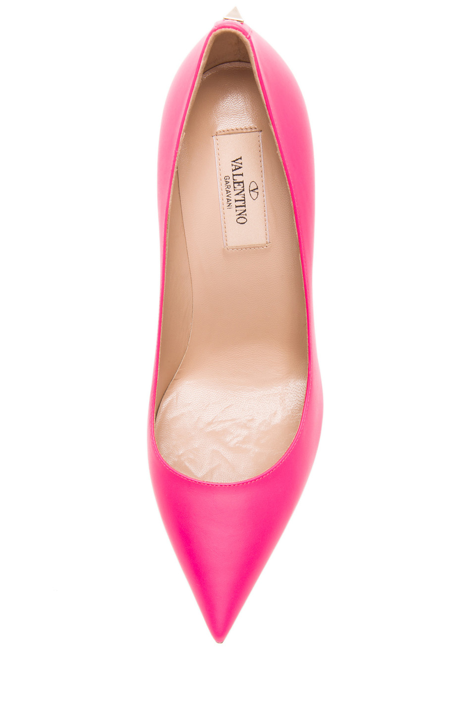 Valentino|New Plain Leather Pumps T.100 in Fluo Pink