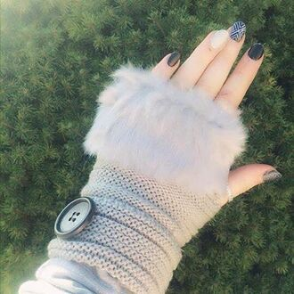 gloves cherry diva autumn gloves winter outfits winter swag faux fur fur fur gloves