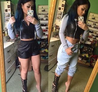pants leather shorts joggers jeans missgraceha shorts leather jacket jacket shoes