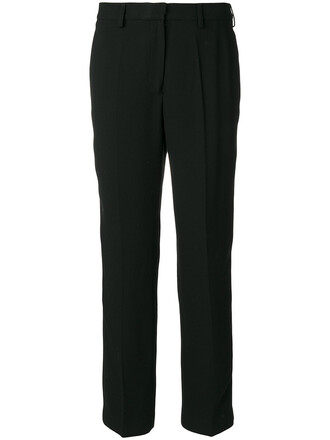 pants women black wool