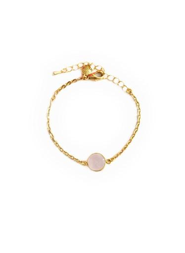 Bracelet plaqué or avec pierre précieuse - 2ENESPIRAL