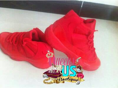 Custom red jordan 11 sneakers