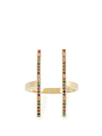 rainbow ring gold ring gold yellow jewels