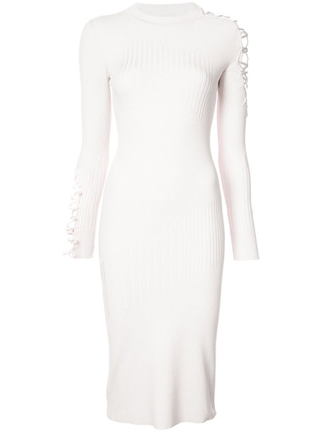 cushnie et ochs dress women lace nude