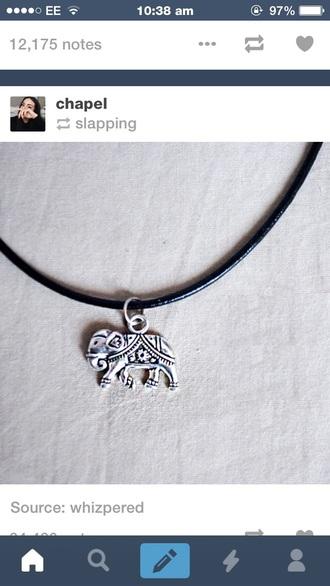 jewels necklace choker necklace boho jewelry elephant print