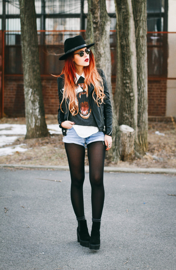 le happy hat sweater shorts shoes sunglasses