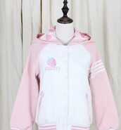 jacket,lovely,pink,kawaii,strawberry,strawberry fields forever,sweet,pastel,japan,japanese,lolita,warm,sweater,shirt,fluffy,harajuku,hoodie