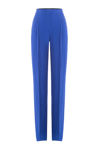 pants wool blue
