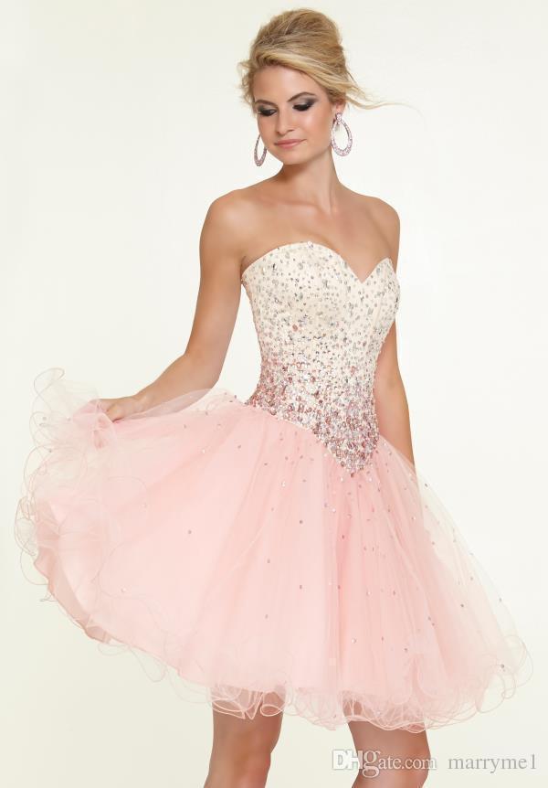 dress, short pink prom dress, short pink dress, pink dress ...